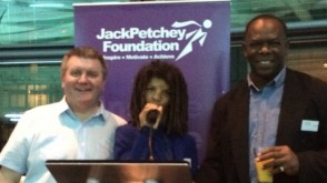 Keith Chilvers and Kelly Oyebola at the Jack Petchey Crystal Awards